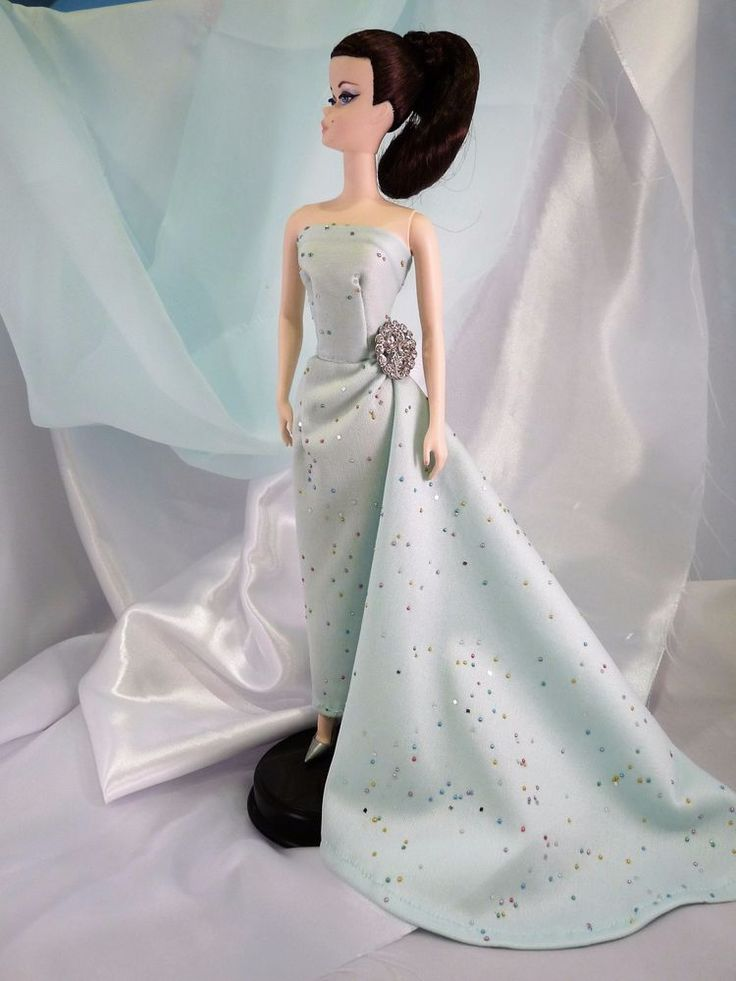"""OOAK Fashion for Silkstone Barbie Royalty Mint Green Gown with """"sprinkles"""" #Unbranded"""