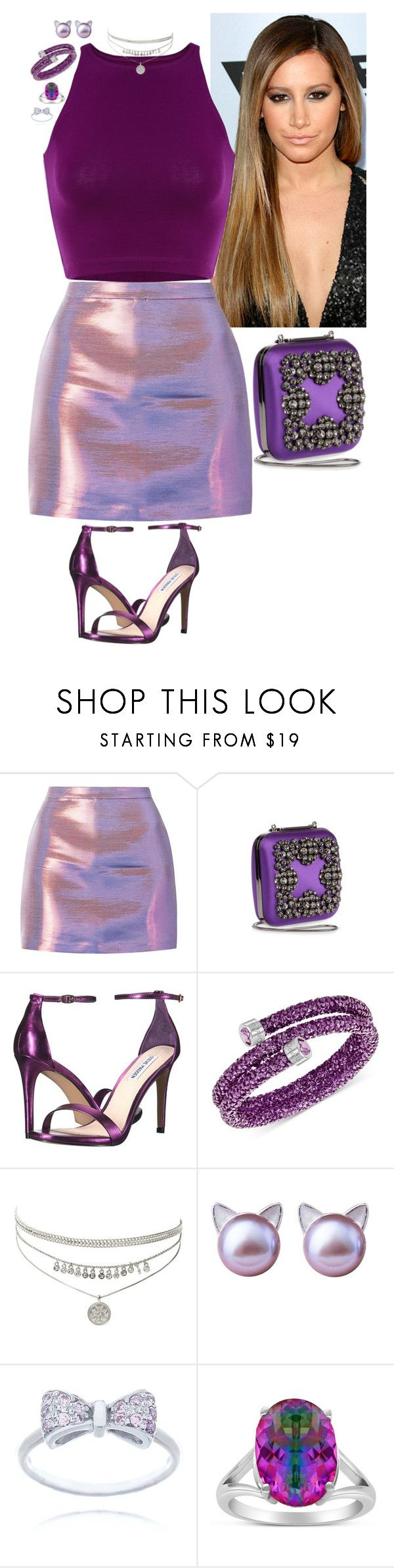 """Curious Cat - Cocktails by Cody"" by stinze on Polyvore featuring Manolo Blahnik, Steve Madden, Swarovski and Rainbow"