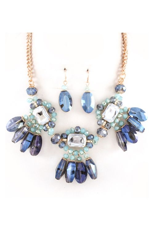Anya Necklace in Sapphire Crystal