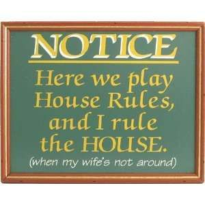 Funny Wood Signs With Sayings | Funny Sign House Rules Humor Bathroom  Garage Politics Man Funny