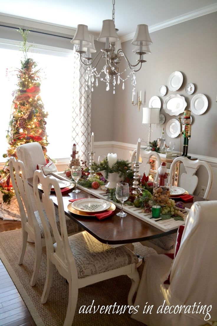 Adventures In Decorating Our 2015 Christmas Dining Room