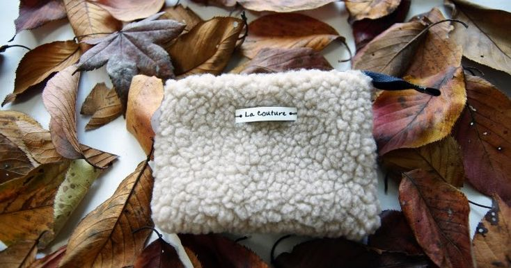 Small cosmetic pouch made of faux fur makeup bag mini wallet. Small coin purse handmade gift idea