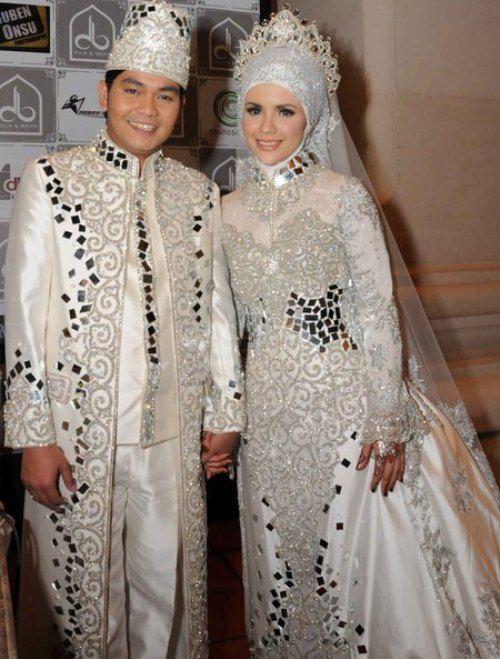 Macam-macam Model Baju Pengantin Syar'i