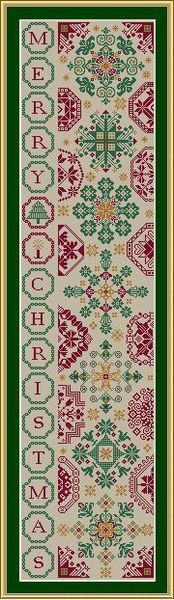 Christmas Quaker Bellpull - Cross Stitch Pattern