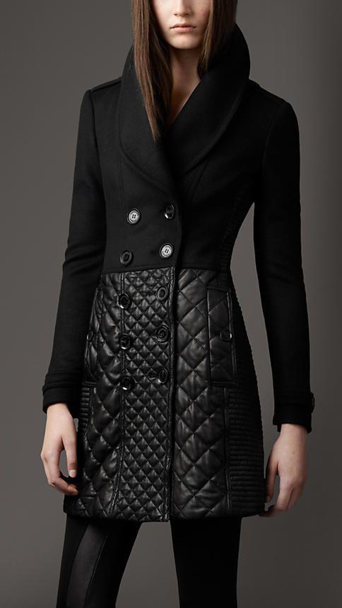 Multi Quilt Leather Skirt Coat | Burberry $2295
