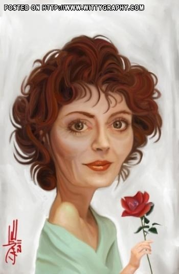 ~Don't like her. She's not so lovable, but this is almost a portrait. Excellent artistry~  Susan Sarandon