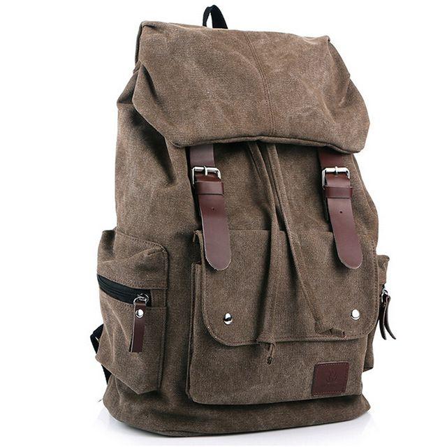 Новая мода рюкзак случайные мужчины рюкзаки модные сумки старинные школьные сумки бренда холст рюкзак вскользь сумка