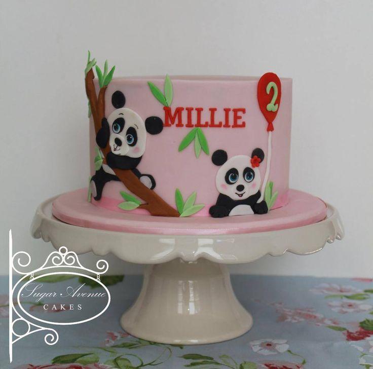Cute 2D panda cake
