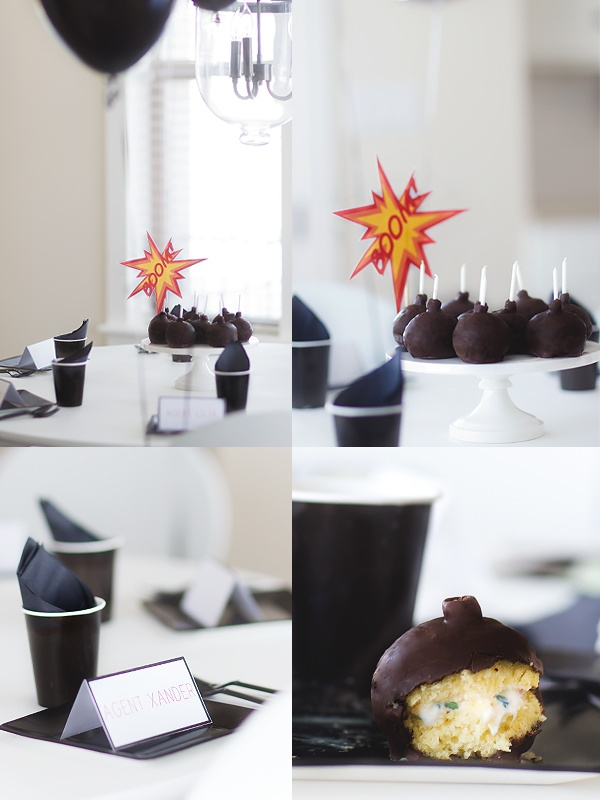Cute ideas, hot potato to james bond music, difuse the bomb after the obstacle course....