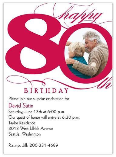 moms 80th birthday ideas   80th Milestone Birthday - Birthday Invitations from CardsDirect