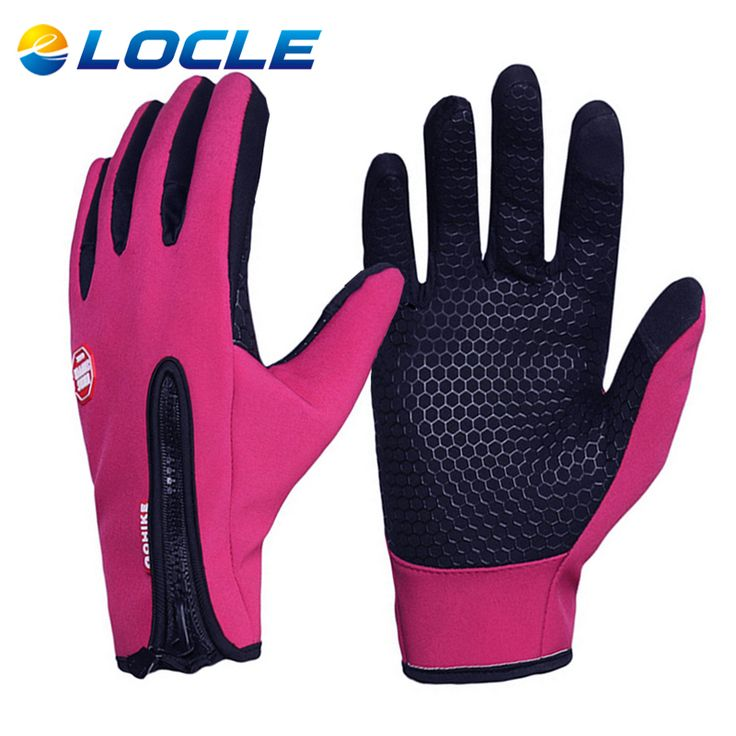 LOCLE Upgrade Horse Riding Gloves Women Men Child Windproof Luva Ciclismo Touch Screen Equitacion Gloves