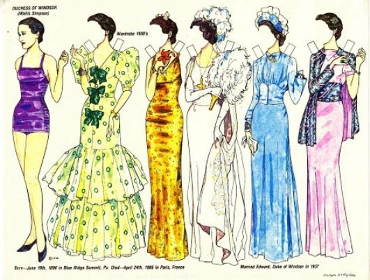 Wallis Simpson - Duchess of Windsor | Gabi's Paper Dolls