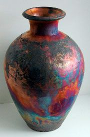 RAKU      richard foye employ straw, pine cones, moose dung and pine shavings to develop the various glaze effects you will find on these pots.
