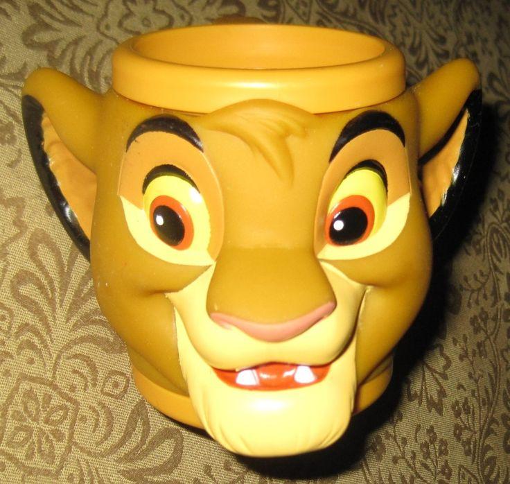 Disney Vintage Lion King Toy Simba Figure Mug Applause $5