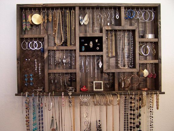 Ring Holder Jewelry Organizer Wall Hanging Jewelry Display
