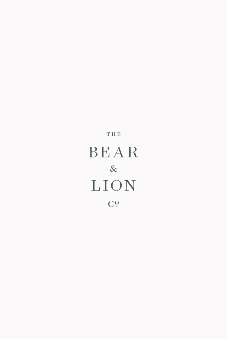 The Bear & Lion Co. by Saturday Studio