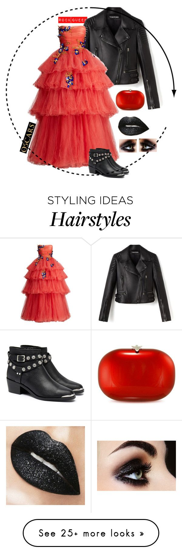 """""""Rock Queen at the Oscars"""" by tina-pencinger on Polyvore featuring Monique Lhuillier, Senso and Jeffrey Levinson"""