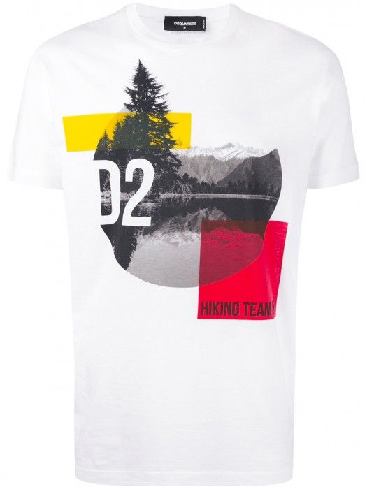7c1398ef0 Dsquared2 Mountain Print T-Shirt White Men #dsquared2 #tshirt #men #fashion  #lifestyle #newyear2018