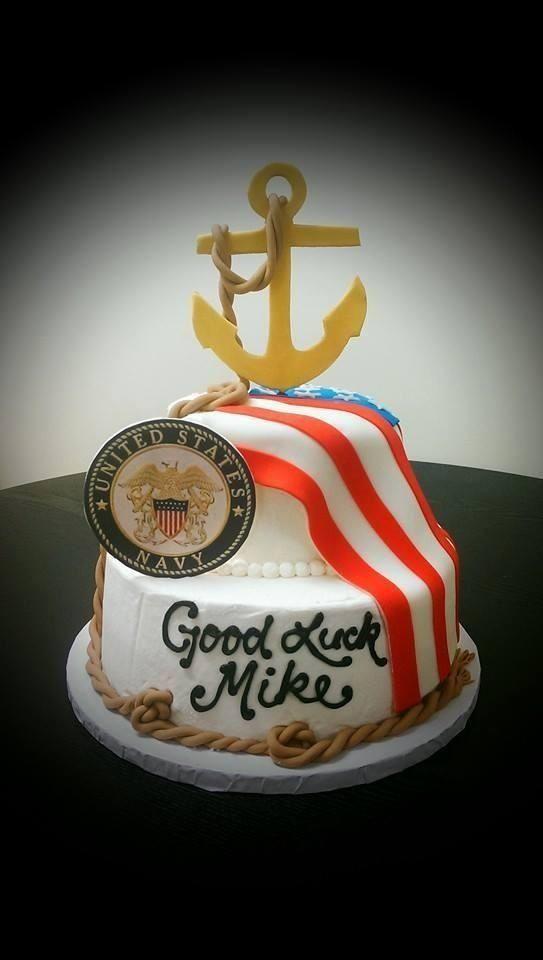 Navy Basic Training going away party. Cake.