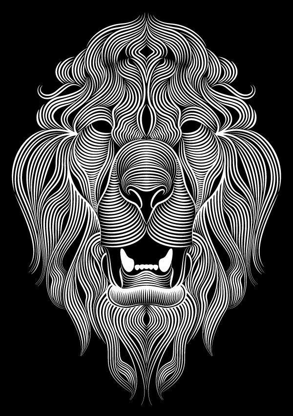 Patrick Seymour - Géométrie - Lion Blanc - Directeur artistique et illustrateur, le québécois explore le monde merveilleux des lignes et des courbes.