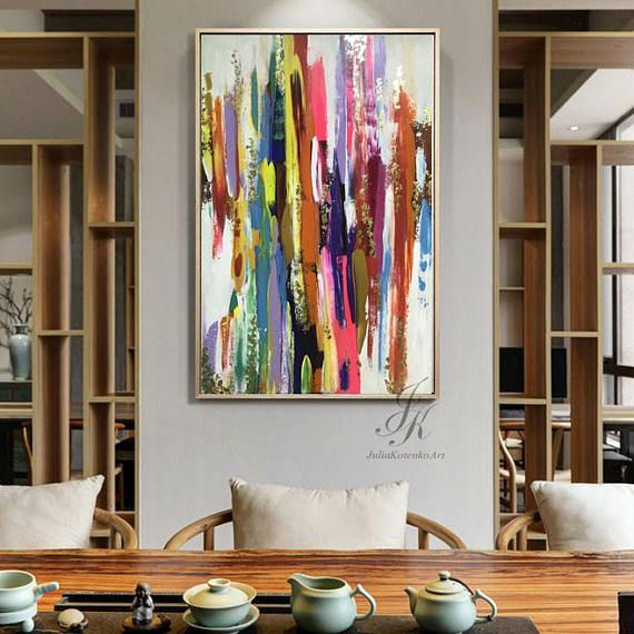 Large abstract painting gold leaf large wall art gold painting modern art original painting abstract painting on canvas by julia kotenko