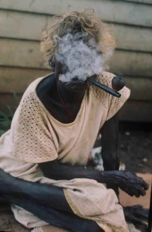Rennie Ellis Smoking the Pipe, Bathurst Island,1970