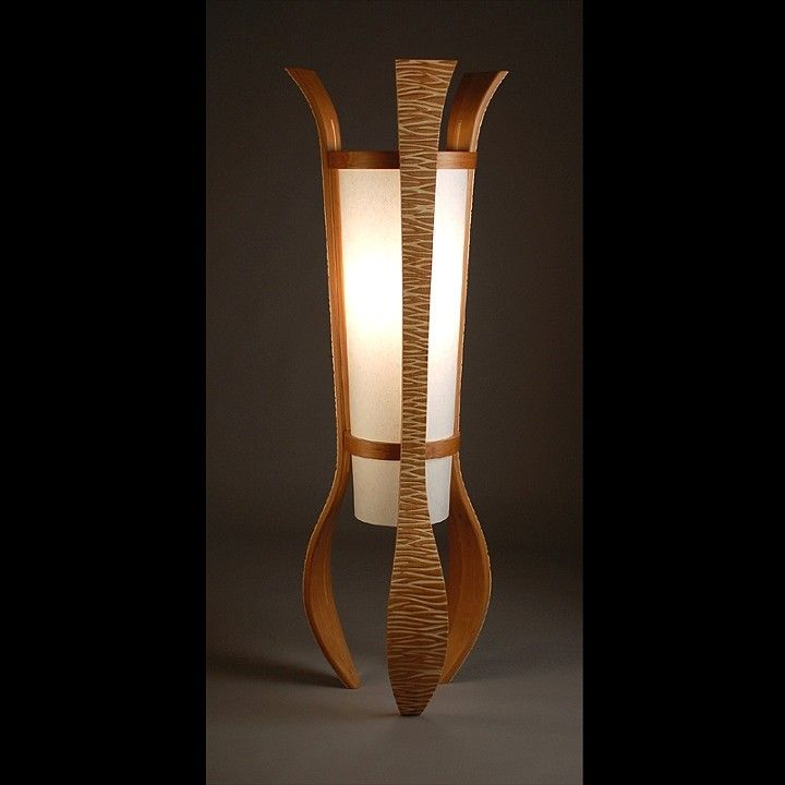 Aella Floor Lamp Made From Alder And Aspen Woods