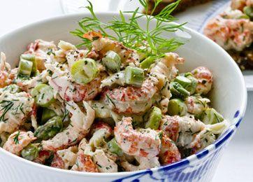 Lav en lækker og indbydende krebsehalesalat med knas, på kun 15 minutter.