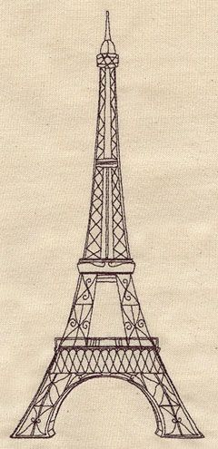 Vintage Eiffel Tower | Urban Threads: Unique and Awesome Embroidery Designs