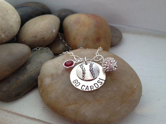 Saint Louis Cardinals - Baseball Jewelry - Team Jewelry - Hand Stamped - Team Spirit Jewelry on Etsy, $36.00