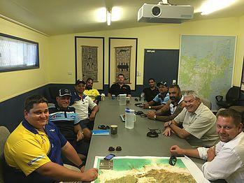 Darwin Buffaloes meet with Wanderers Eagles and Rirratjingu Aboriginal Corporation at Yirrkala to plan for a Buffs v Eagles match!