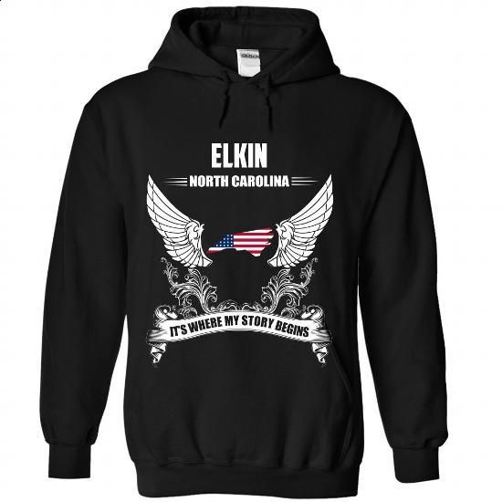 ELKIN - Its where my story begins - #tshirt pillow #white sweatshirt. MORE INFO => https://www.sunfrog.com/No-Category/ELKIN--Its-where-my-story-begins-4024-Black-Hoodie.html?68278