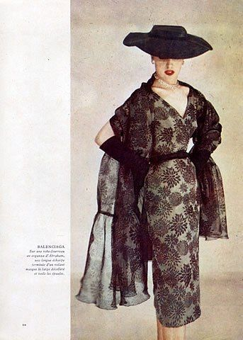 So Elegant, I Would Wear This Today Including The Hat - Balenciaga 50s