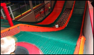 jump street. indoor trampoline courts, foam pits, mechanical bulls, trampoline dodge ball. so fun.