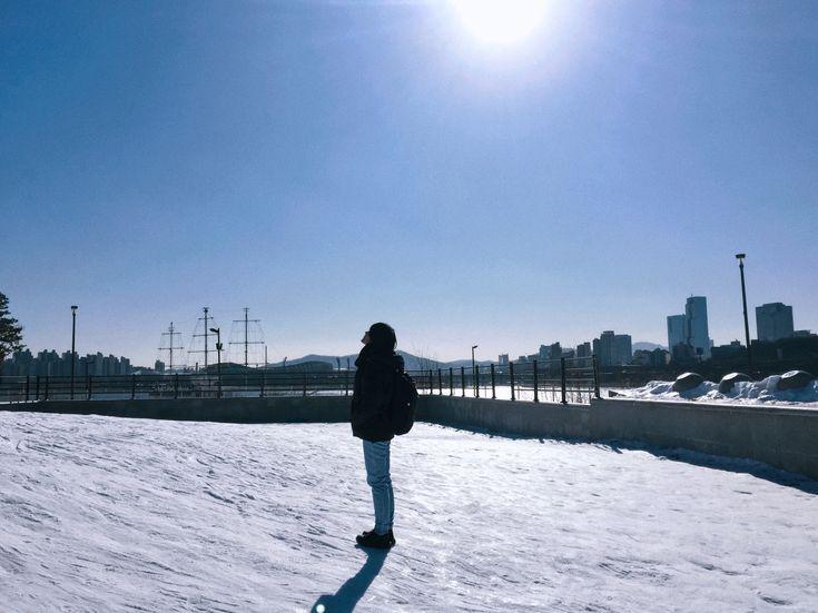 Ski playground in Ttukseom Resort #Seoul