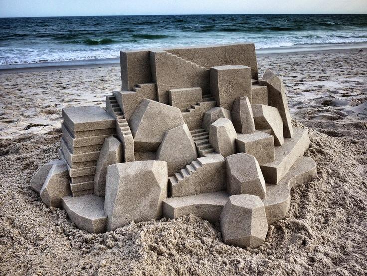 Calvin Seibert y sus castillos de arena arquitectónicos
