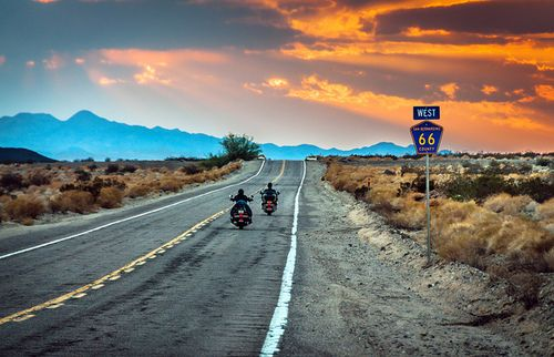 Go on a motorcycle road trip on Route 66