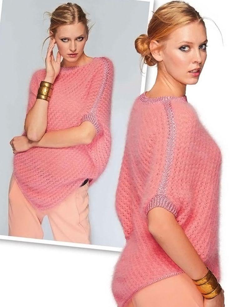Пончо - Вязаные модели спицами для женщин
