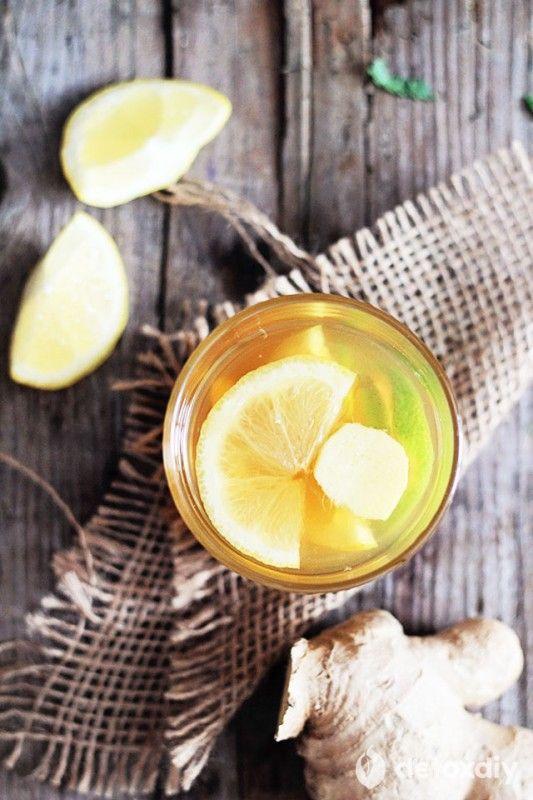 Bedtime: Ginger Lemon Tea   Detox DIY