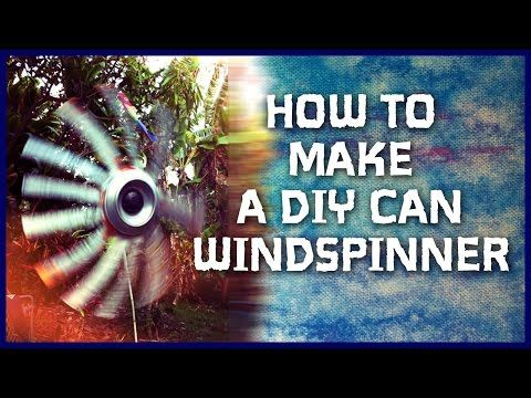 How to Make a Recycled Aluminum Can Wind Spinners: DIY Soda Can Whirligig Project - YouTube