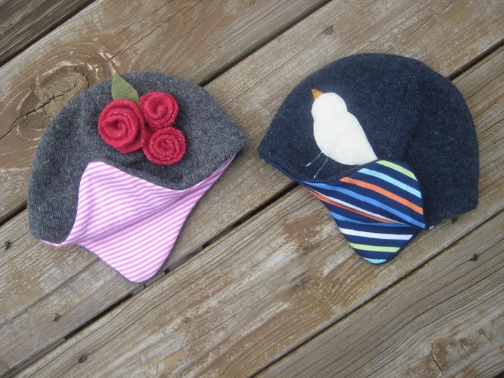 hats from old sweaters, get template from http://www.marthastewart.com/265998/felt-hat-how-to