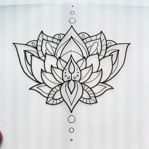 34 best lotus flower tattoo outline images on pinterest lotus attractive black outline lotus flower tattoo design mightylinksfo