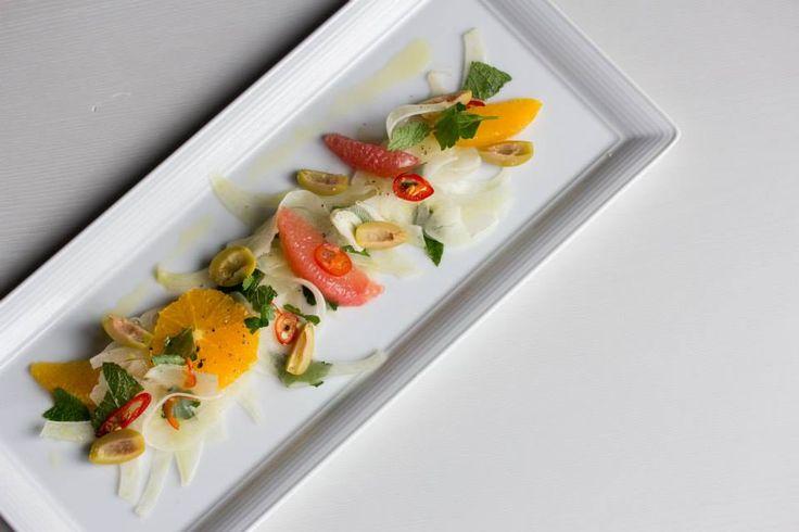 Orange, grapefruit & fennel salad with green olives & pickled chili #Oakville #Restaurant #Food #Italian #Cucina