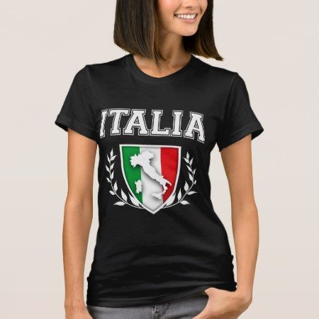 Italian Flag Crest T-Shirt - click/tap to personalize and buy