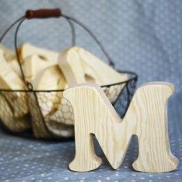 Деревянные буквы Cooper Black