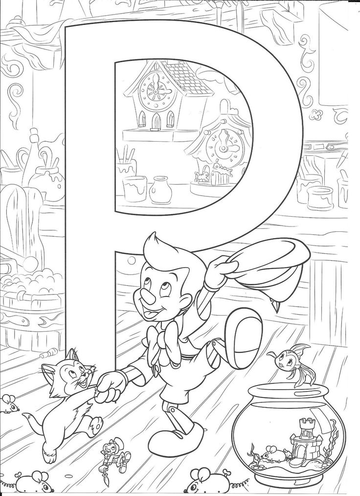 Pin by Mini on Alphabet Coloring Sheets Disney coloring