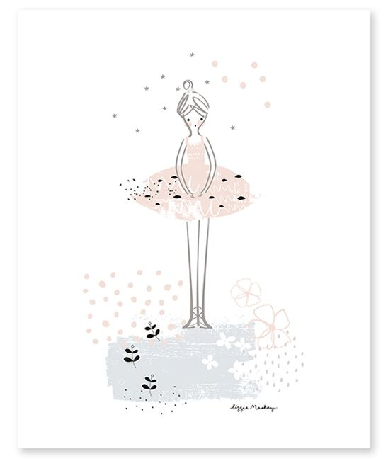 Affiche ballerine - décoration chambre enfant – Lilipinso