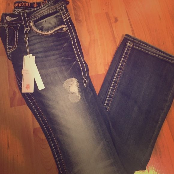 NWT Rock revival jeans!!! ☠✨ Really cute rock revivals! Size 27 bootcut. Rock Revival Jeans Boot Cut
