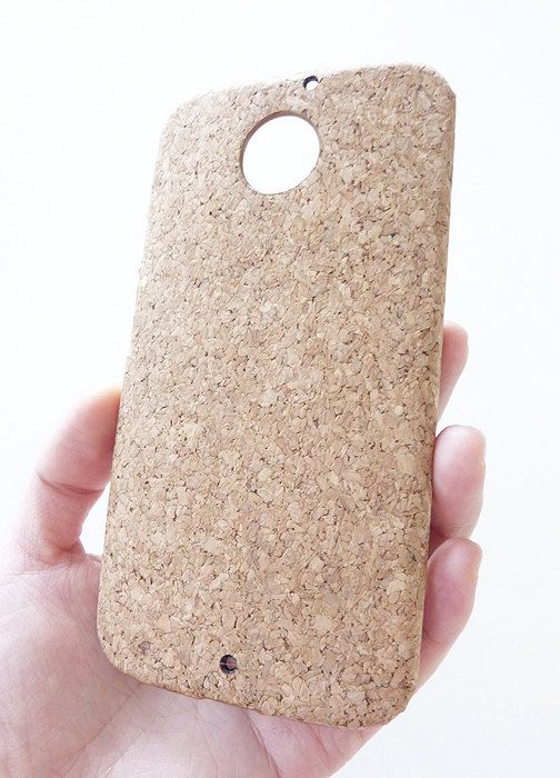Eco-Friendly Natural Wood Cork Phone Case Cover For Motorola Moto X (2nd Gen. 2014) by Yunikuna