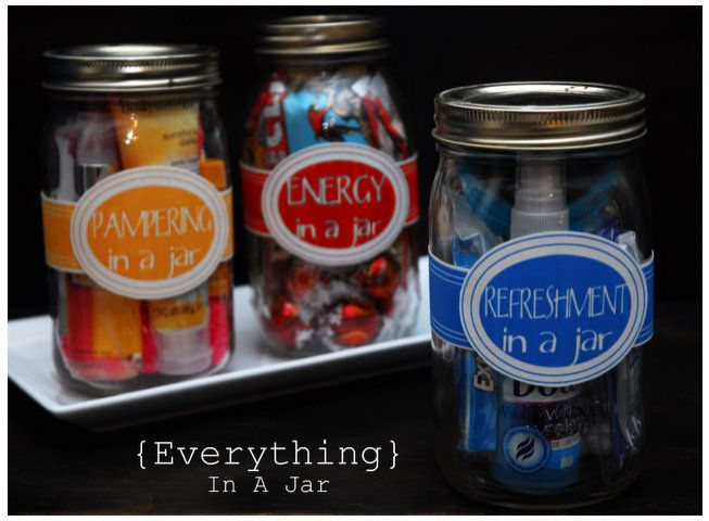 Gift jars using free samples and travel size items